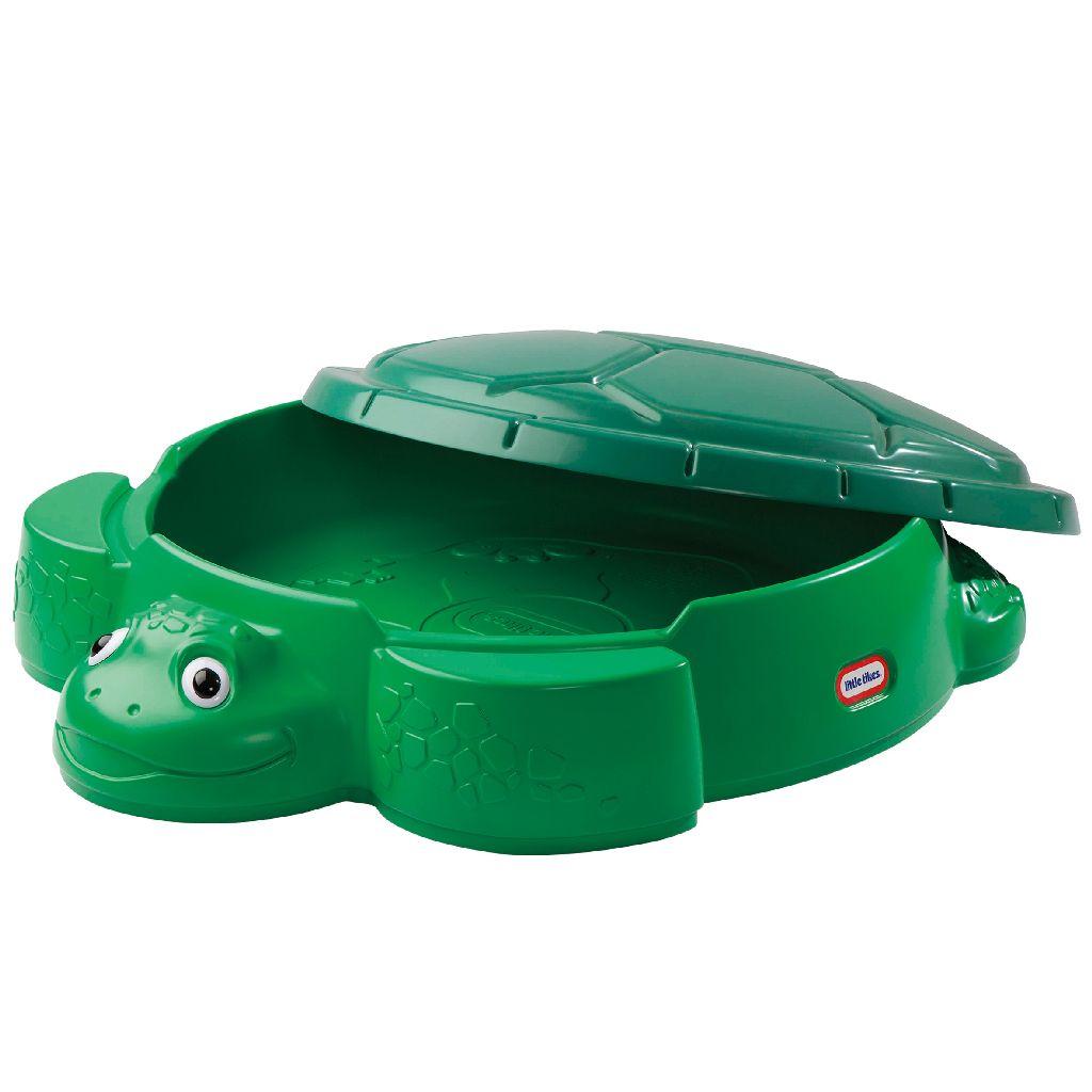 Schildpad zandbak met deksel