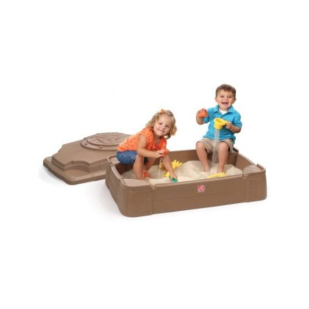 Zandbak van plastic met deksel play and store