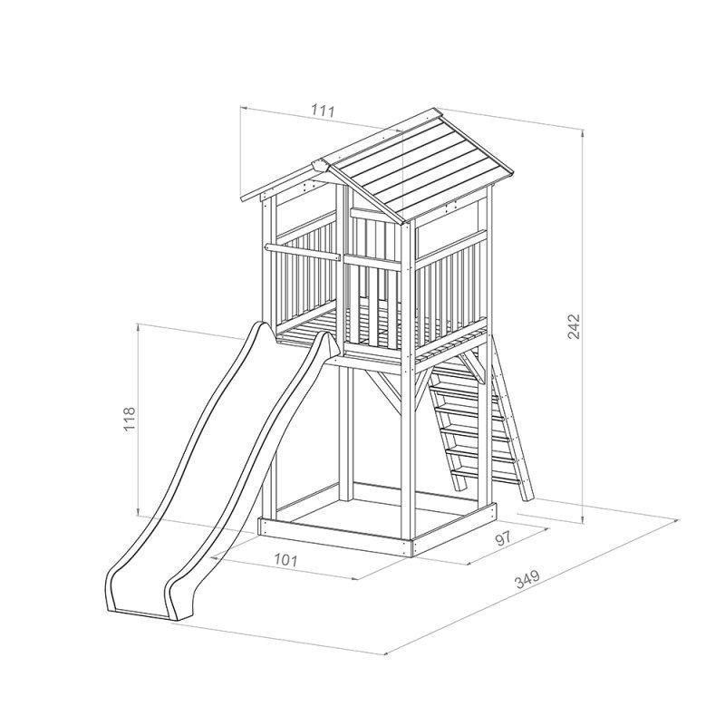 Afmetingen Speeltoren Beach Tower basic