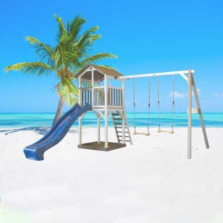 Beach Tower speeltoren met dubbele schommel