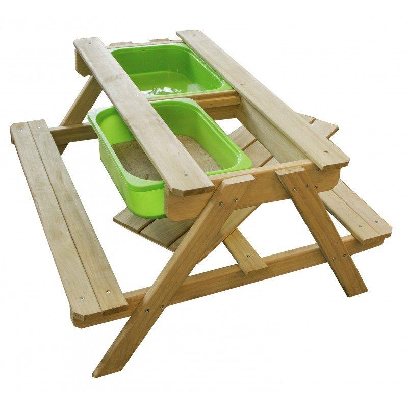 Sunny Dual Top picknicktafel - Houten zand en watertafel met krijtbord