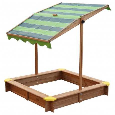 Lily houten zandbak met kantelbaar dak