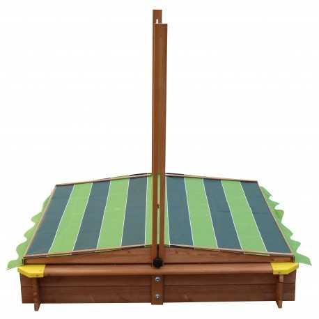 Lily houten zandbak met verschuifbaar dak