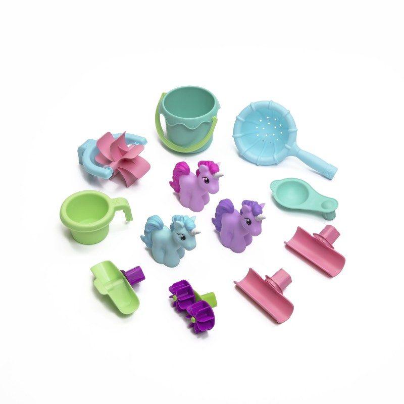Rain Showers & Unicorns Watertafel meegeleverde accessoires