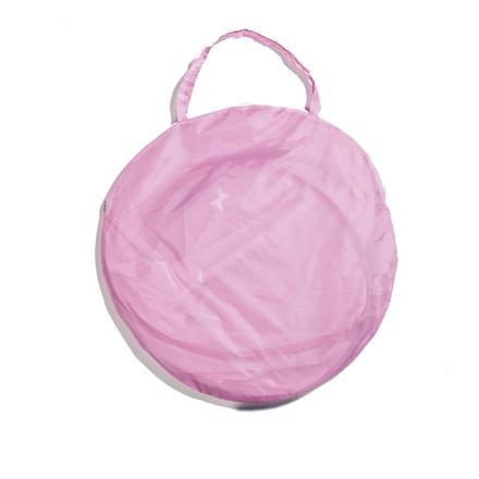 pop-up tent in tas roze
