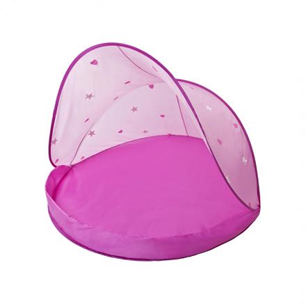 speeltent zandbak schelp roze